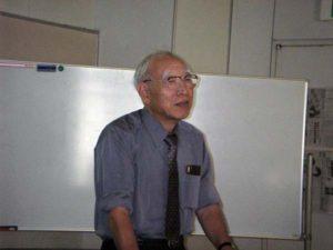 講師の東京農業大学客員教授の守山弘先生は、里山保全の意義を科学的に説明してくれました。