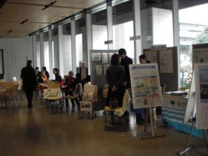 それぞれの団体が工夫した展示を作っていました。