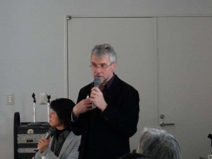Professor Higgins lectured in Minami-uonuma.