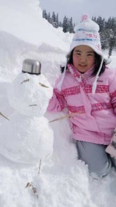 雪だるまを作ったよ!