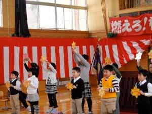 在校生から歓迎の歌とメッセージがありました。