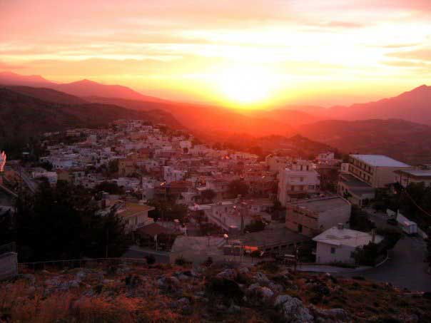 Sunset in Anogeia