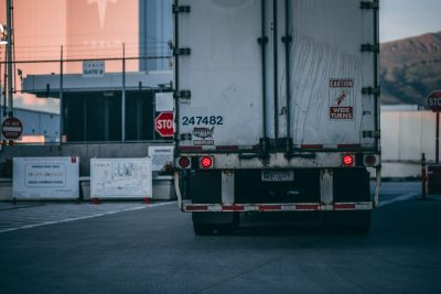 back of freight truck