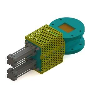 conjunto de válvulas gaveta pneumáticas eco sand
