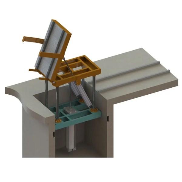 elevador basculador de moldes eco sand