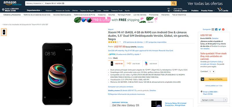 Un nuevo celular como regalo de graduación - Xiaomi-Mi-A1