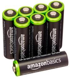 AmazonBasics Baterías recargables precargadas de Ni-Mh