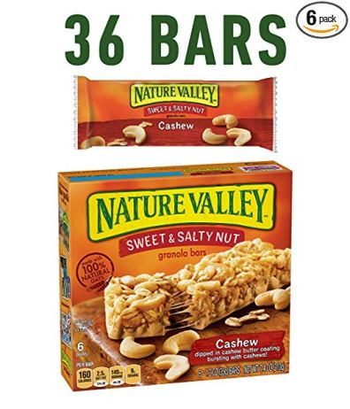 Barras de granola de Nature Valley, 6 barras