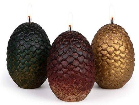 Velas de huevos de dragón de Game of Thrones, juego de 3