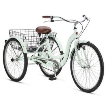 Schwinn Triciclo para adultos, con cesta de alambre de metal