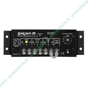 Régulateur de charge SUNLIGHT SL-20L-12V