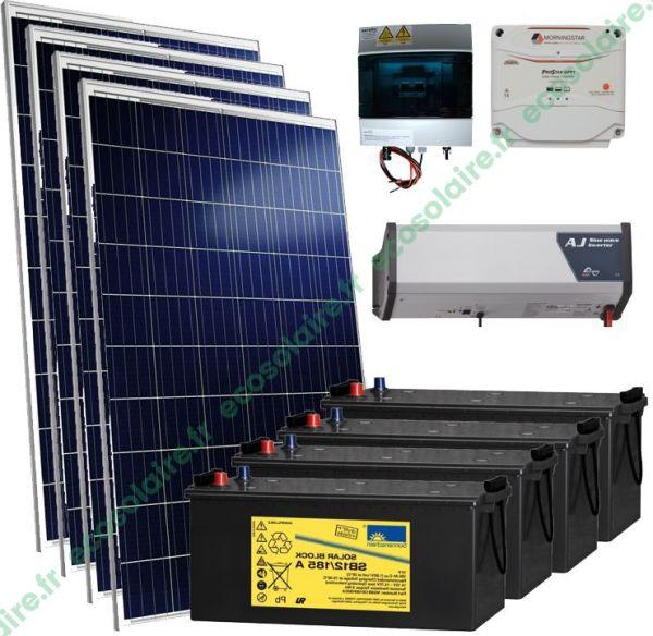 kit autonome solaire 1140W 230V
