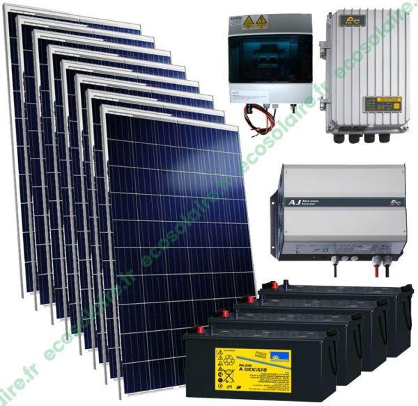 kit autonome solaire 2280W 230V