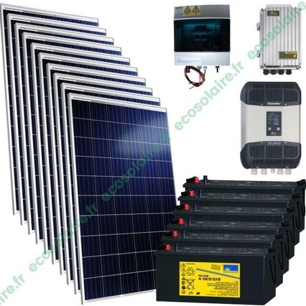 Kit autonome solaire 2650W 230V V2