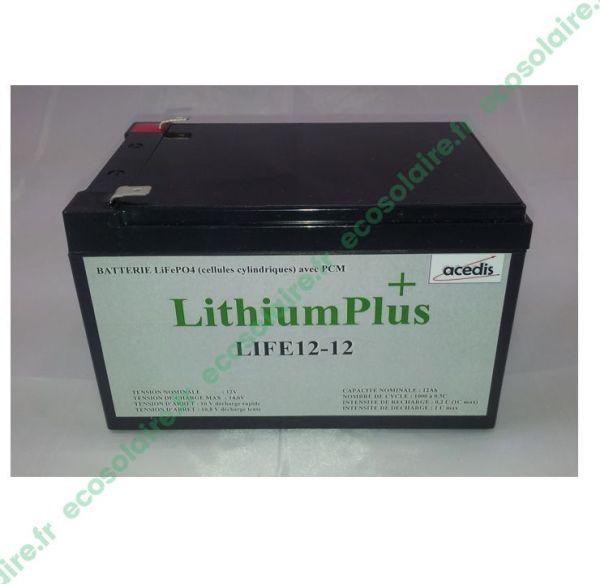Batterie Lithium LiFePO4 LIFE12-12