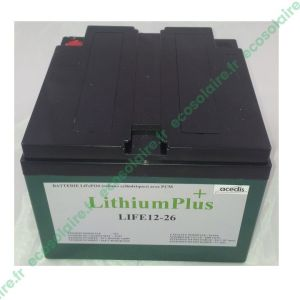Batterie Lithium LiFePO4 LIFE12-26