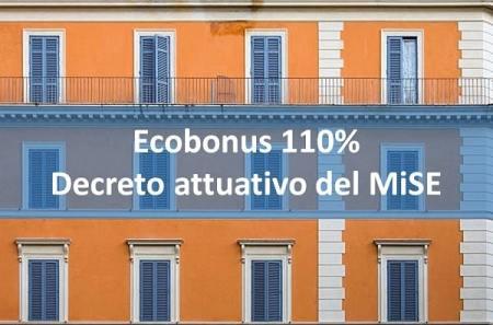 Ecobonus 110% - decreto attuativo