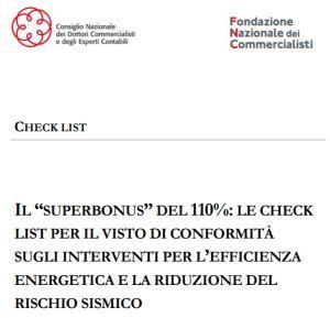 Superbonus 110% - check list per la richiesta del visto di conformità