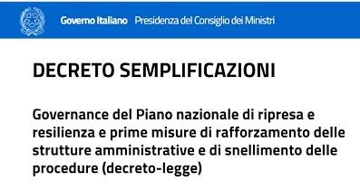 decreto semplificazioni (bozza del 28.05)