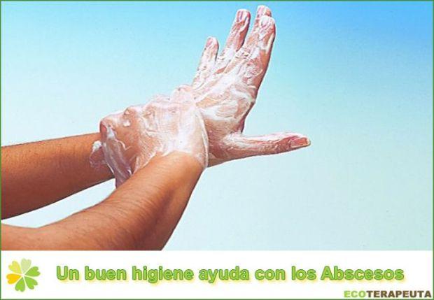 Higiene para prevenir abscesos