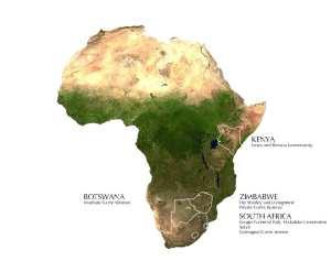 EcoTrainig Africa Camps Map