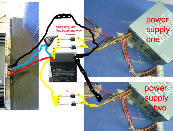 pc power supply powering car amplifier in home  ecoustics