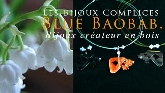 bijou muguet en bois précieux par Blue Baobab