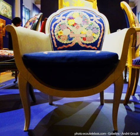 bergere A-Groult galuchat tapisserie de Beauvais ecoutelebois