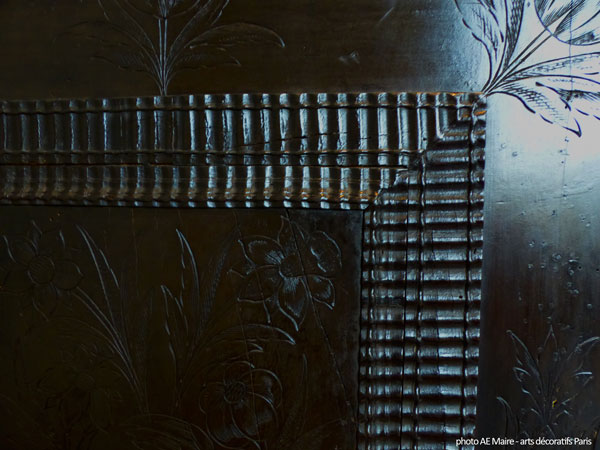 cabinet ébène 17e gravures guillochis