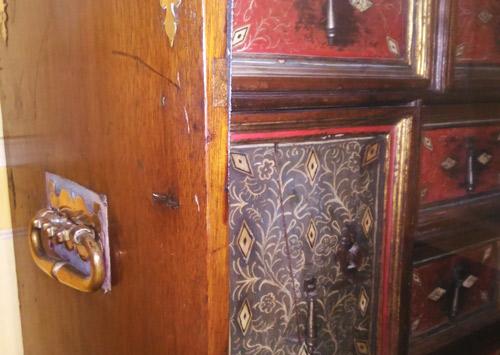 cabinet tiroirs château de Villandry ecoutelebois