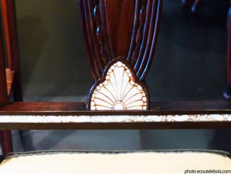 chaise palissandre ivoire clement mere 1922 art deco ecoutelebois