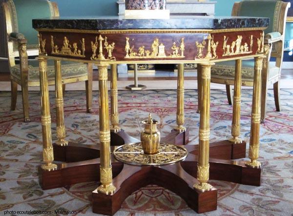 château de la Malmaison table Napoléon 1er ecoutelebois