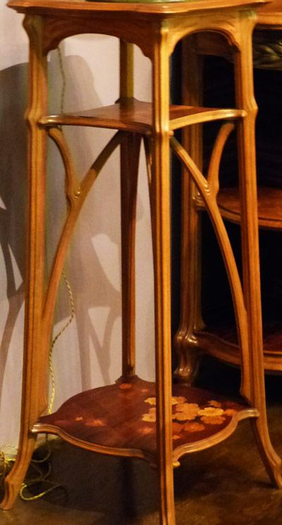 emile galle gueridon art-nouveau ecoutelebois