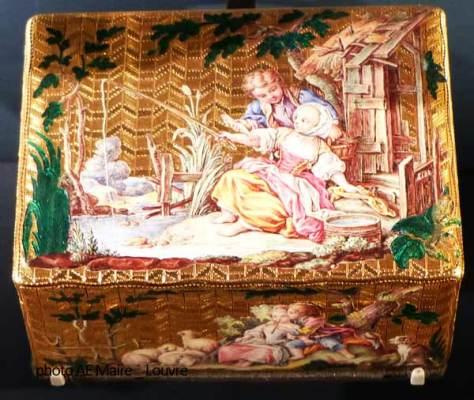 gout du champêtre Louis XVI boîte Louvre ecoutelebois