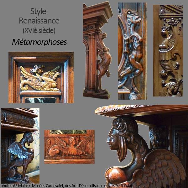 mobilier renaissance métamorphoses