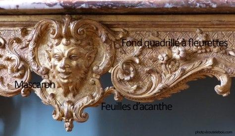 Motifs décoratifs Louis XIV ecoutelebois
