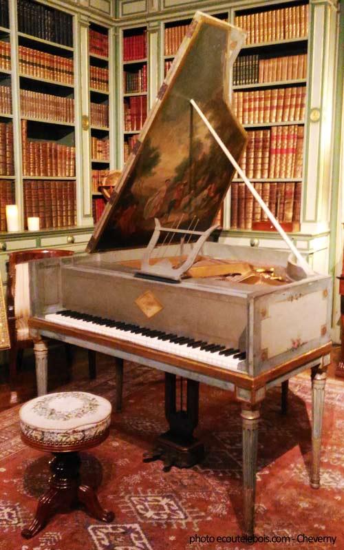 piano scene champetre Louis XVI Cheverny ecoutelebois