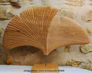 sculpture bois ginkgo biloba anne-emmanuelle-maire bluebaobab