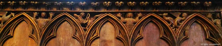 stalles XIII ste-radegonde Poitiers