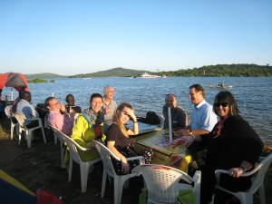 Dinner at the shores of Lake Victoria