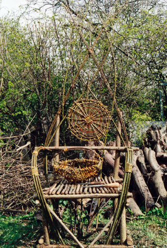Willow chair and basket