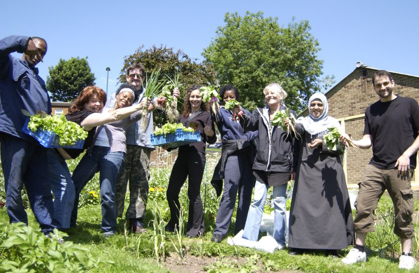 our brewsters road growing group enjoying the harvest