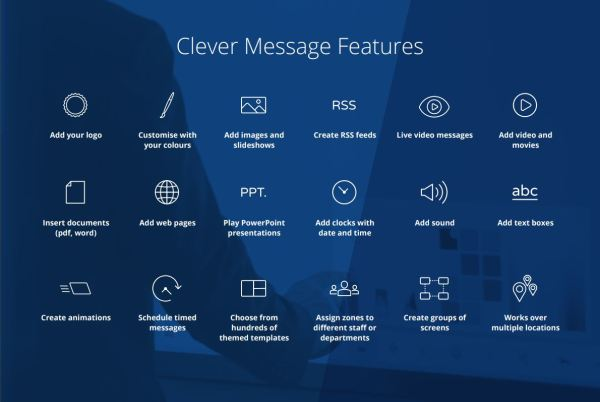 clevertouch plus SERIES clevermessage features