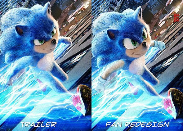 photo Sonic fan redesign