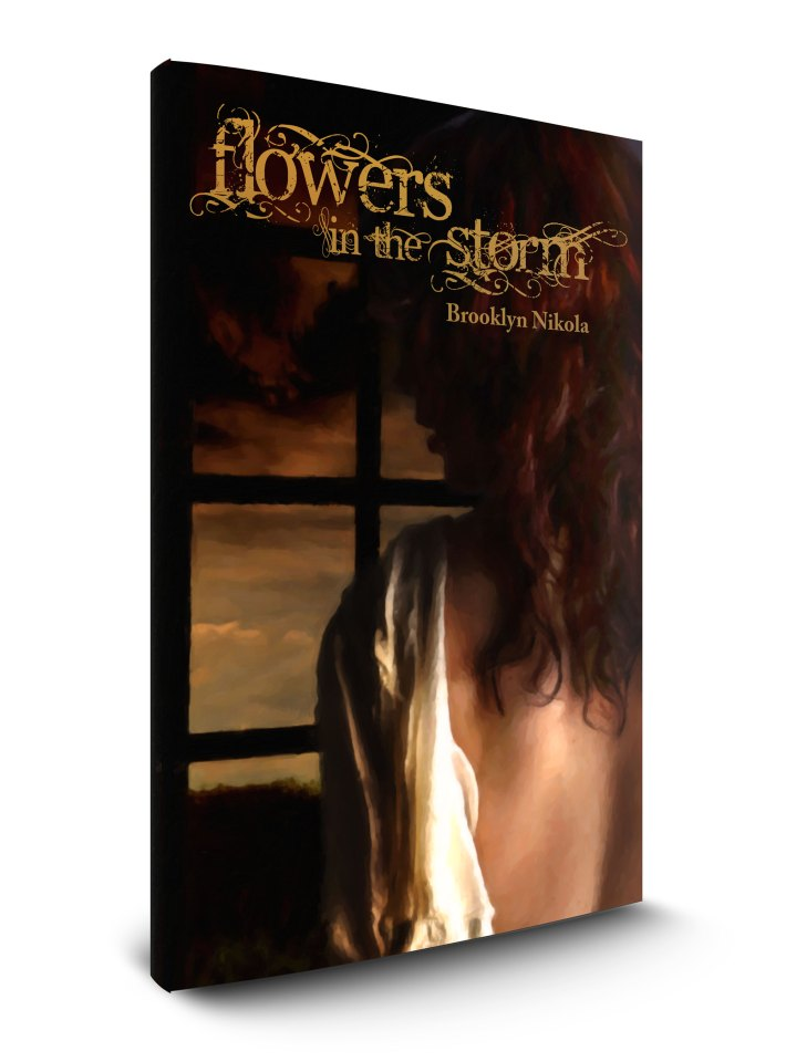 Flowers in the Storm Book Cover Design