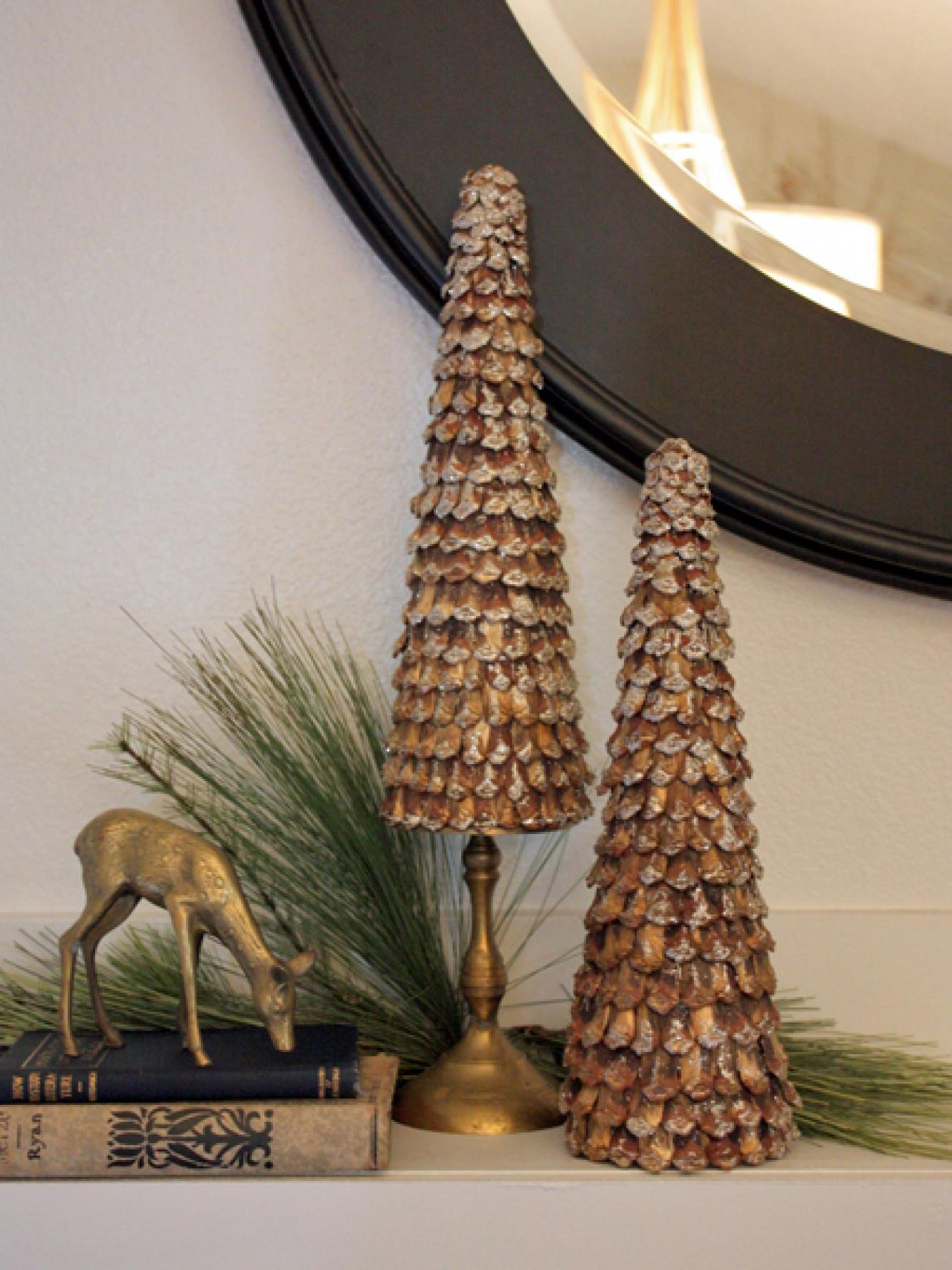 1  Pinecone Topiaries. 50 Home Made Ornament and Decoration Items   Marry Christmes