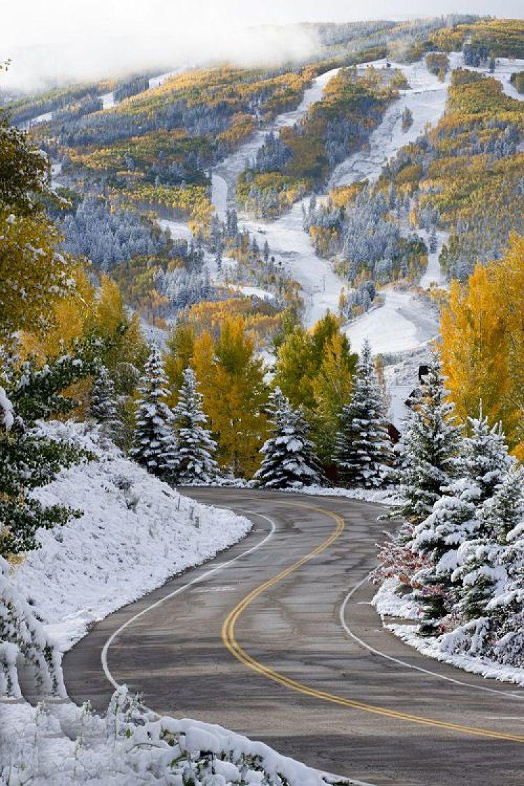 Beautiful Mountain Street in Colorado