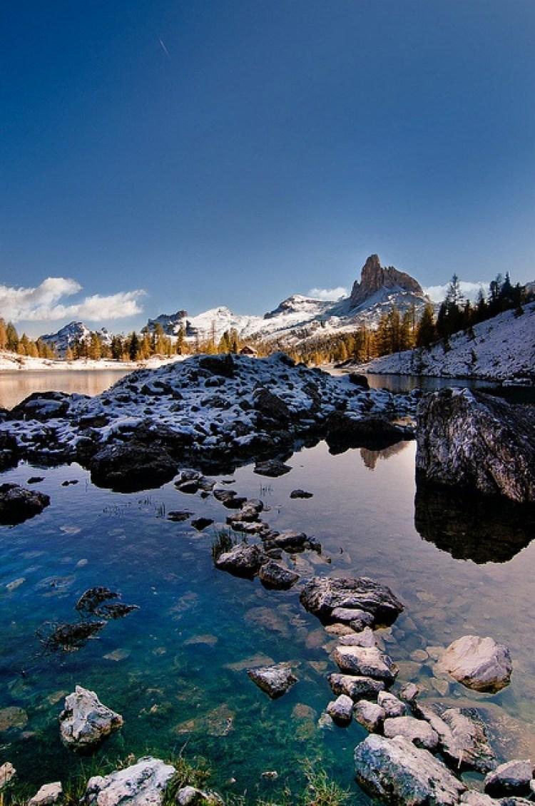 Lake Federa, Dolomites, Veneto, Italy