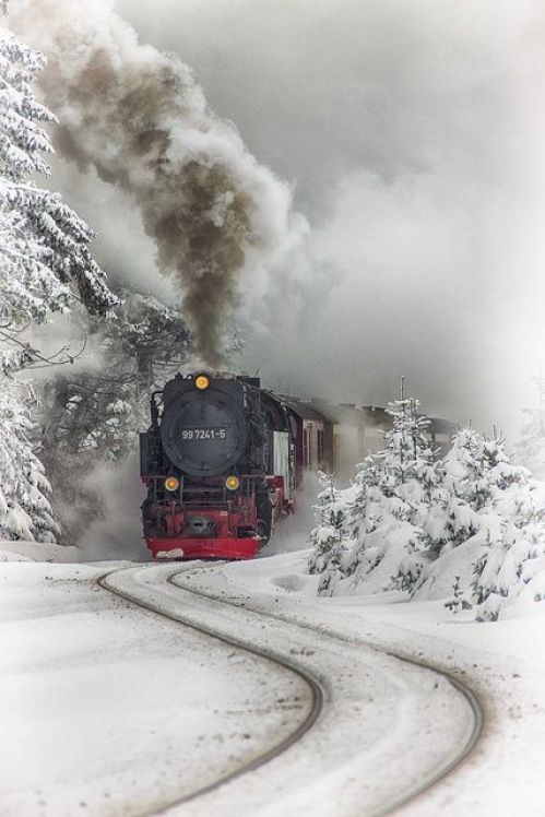 Snow Train, Saxony-Anhalt, Germany