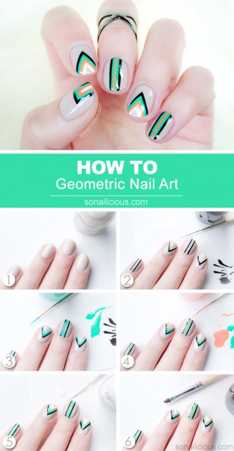 geometric nail art designs images - nail art and nail design ideas